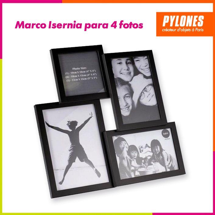 Marco isernia para 4 fotos #Hogar #Casa #Color