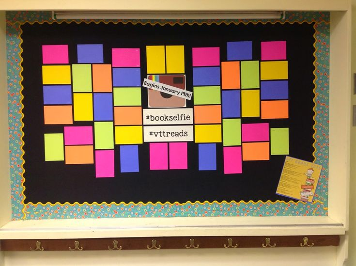 School-Wide Reading Challenge: Click on the photo to see our Book Selfie bulletin board display!                                                                                                                                                      More