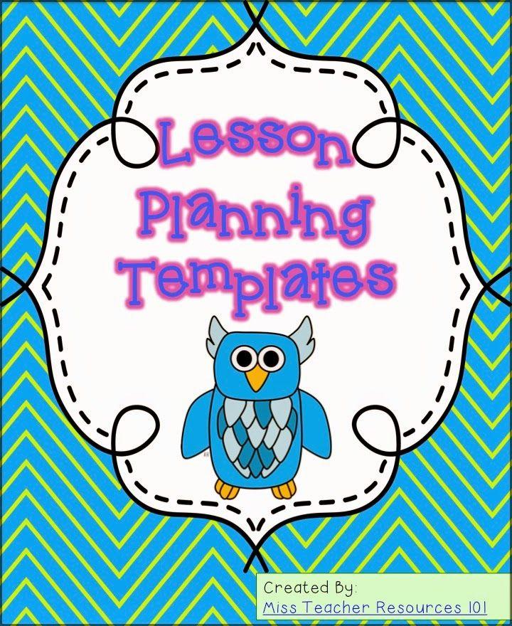 39 Best Lesson Plan Templates Images On Pinterest