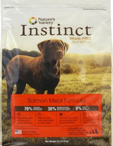 Instinct Grain-Free Salmon Meal Dry Dog Food by Nature`s Variety, 13.2-Pound Package $46.37 (save $8.63) + Free Shipping