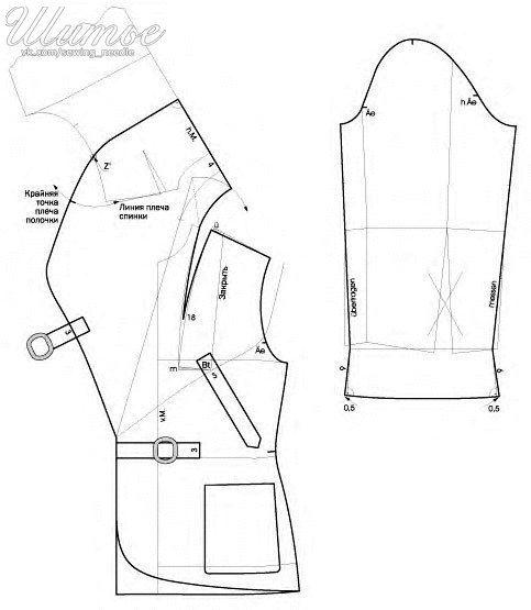 Ideas para el hogar: Patrón para realizar chaqueta de paño con moldes