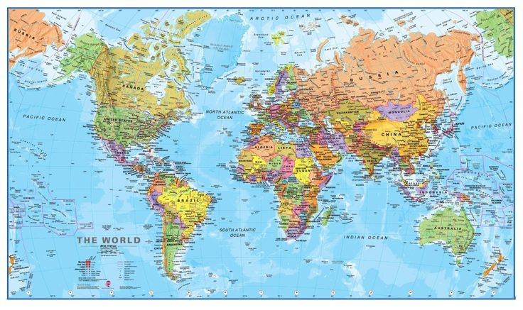 World map for Europe
