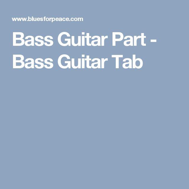 Bass Guitar Part - Bass Guitar Tab
