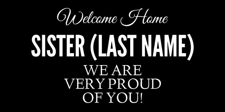 Welcome home sister plaque lds mission for Mormon missionary name tag template