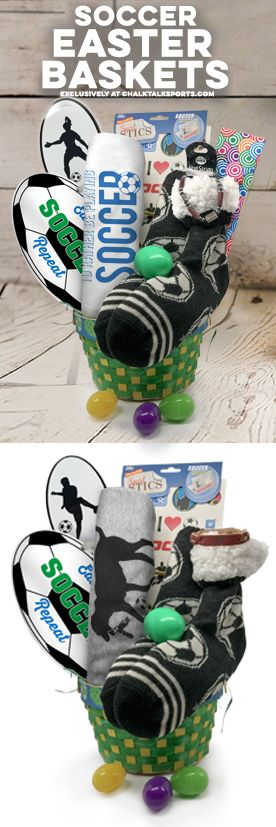 Shoot and score this Easter! Our Soccer Easter baskets come filled with exclusive soccer gifts from ChalkTalkSPORTS! Win big by surprising your favorite soccer player with one!