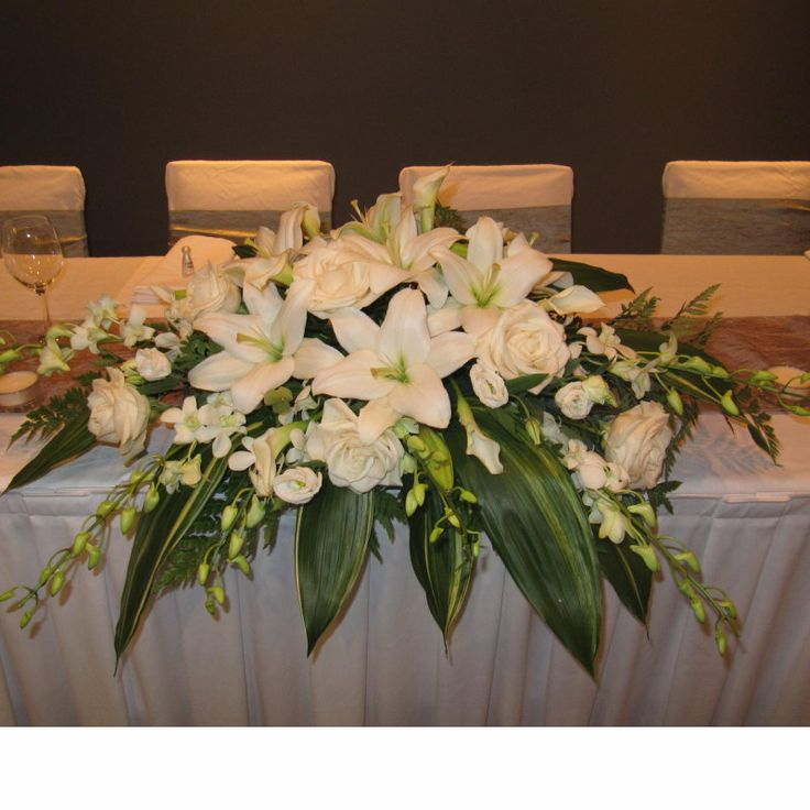 Wedding Head Table Centerpiece Ideas: 17 Best Images About Bridal Party Table Decorations On