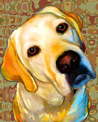 This is Tupelo- created by Rebecca Collins a commercial artist that does custom pet portraits.  You can find her work at artdogblog.blogspot.com