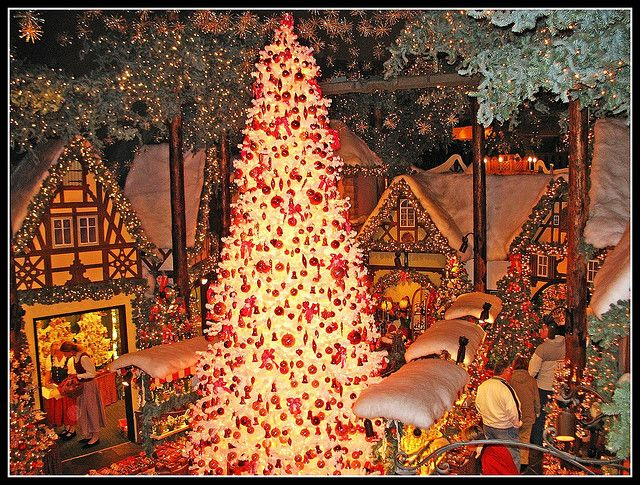 Christmas Market, Germany. #indigo #MagicalHoliday This tree looks way better than the one we have!