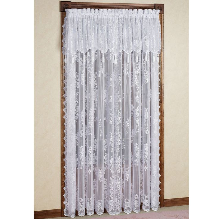 Lace door panels for french doors panel curtains panel for Curtains for french doors ideas