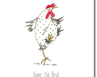 Do The Funky Chicken Greeting Card  Funny Chicken by SarahBoddyUK