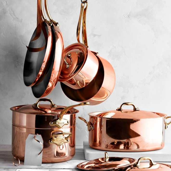 Mauviel Copper 12 Piece Cookware Set Williams Sonoma Cookware