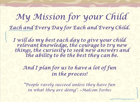 writing a teaching mission statement