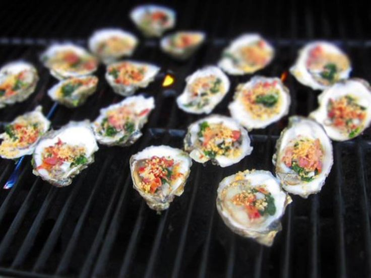 Sriracha Grilled Oysters Recipe - spicy oysters - perfect recipe and you can order the oysters online at this store!