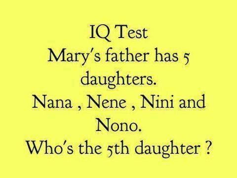 Hilarious Facts, Pictures, Quotes and Information at Internet: Simple IQ Test