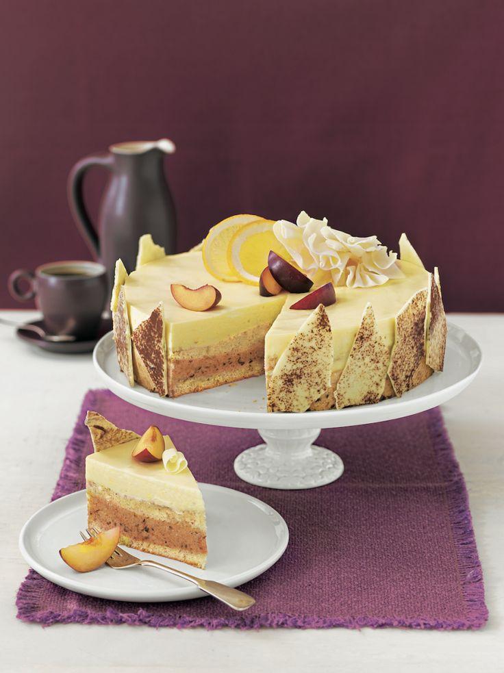 Pflaumen-Orangen-Torte
