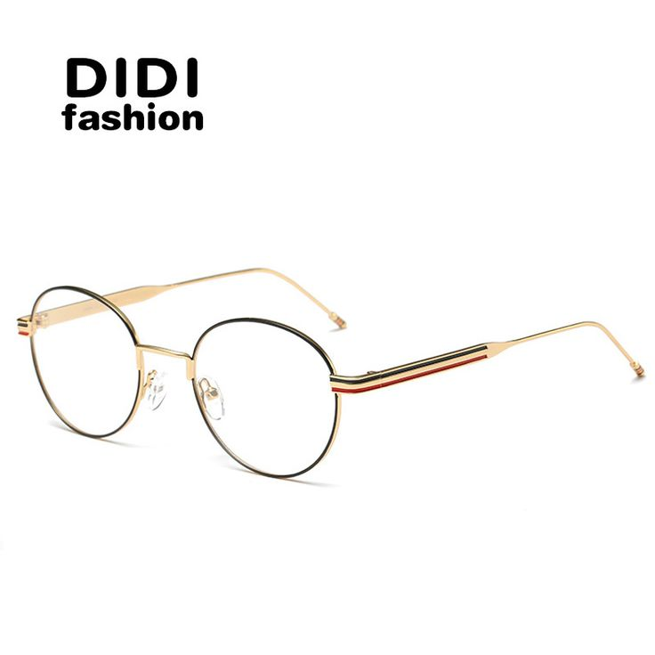 DIDI New Lovers Small Round clear Glasses Frame Anti Blue Ray Computer Glasses Retro thin frame Eyeglasses Goggles lunettes W666