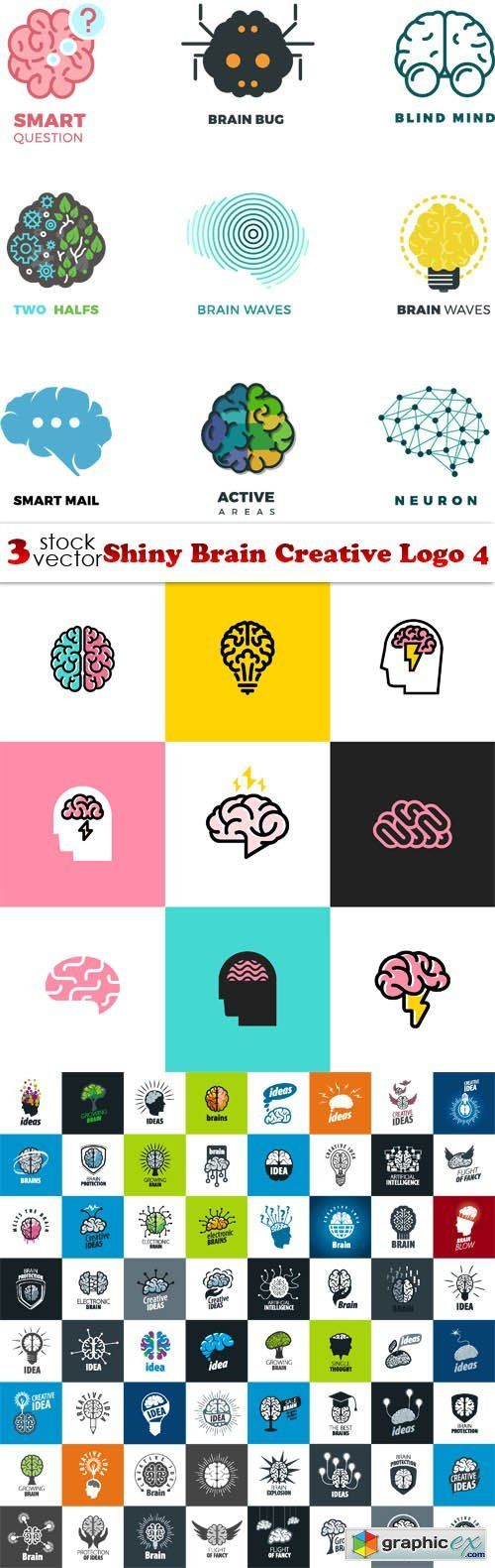 Shiny Brain Creative Logo 4