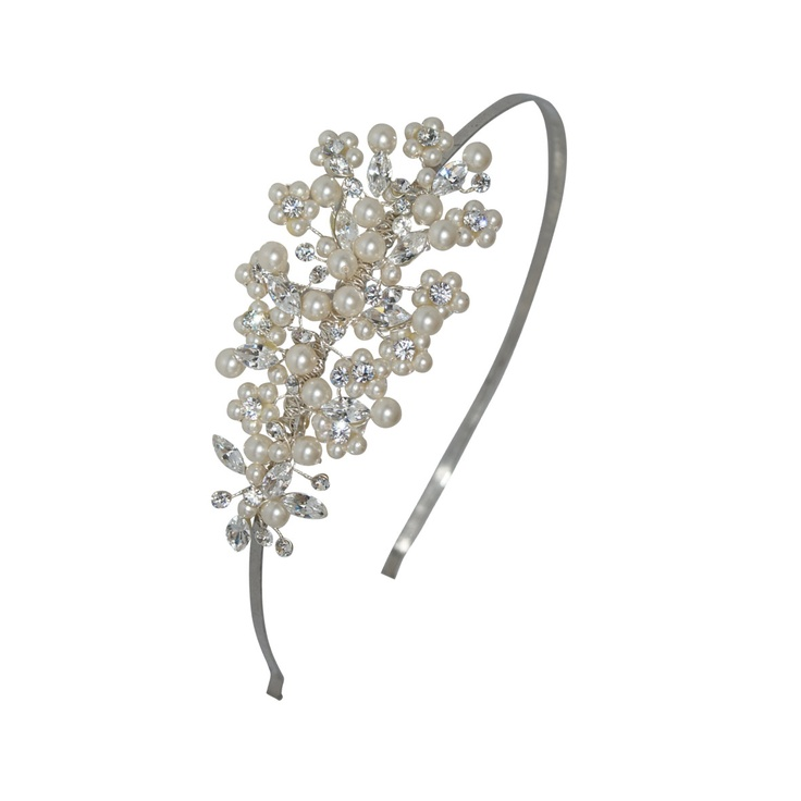 Laura pearl and diamante bridal head band - Tantrums and Tiaras - Affordable quality