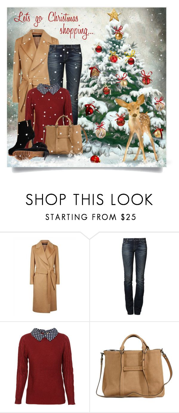 """""""Let's go Christmas shopping..."""" by snickersmother ❤ liked on Polyvore featuring Jaeger, True Religion, RGB, Longchamp and Gianmarco Lorenzi"""