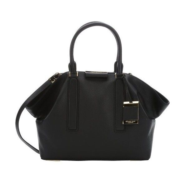 Michael Kors Black leather large 'Lexi' convertible tote ($795) ❤ liked on Polyvore featuring bags, handbags, tote bags, black, michael kors tote bag, michael kors purses, zippered tote, leather handbags and leather tote