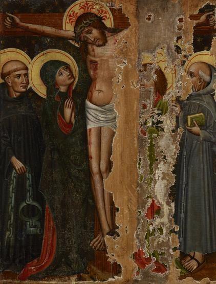 Ukrzyżowanie (tzw. małe) z kościoła w Korzennej, ok. 1460