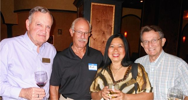 Dr. Charles Steilen, Dr. Richard Prager, Irene Leung & Bill Wallace at the Tsunami Meet & Greet in downtown Sarasota in November 2013