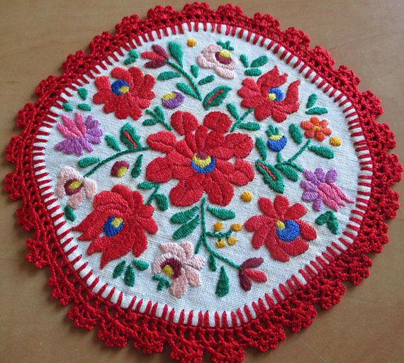 282. Hand embroidered doiliehand embroidered matyo