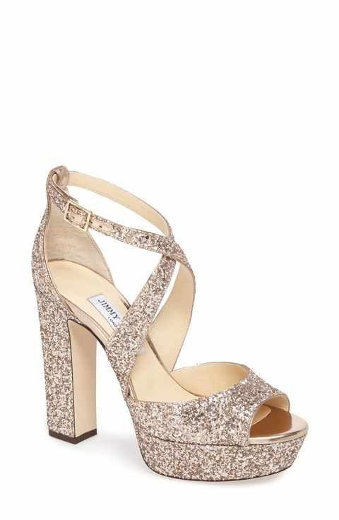 18b94448edc Jimmy Choo April Glitter Platform Sandal (Women)