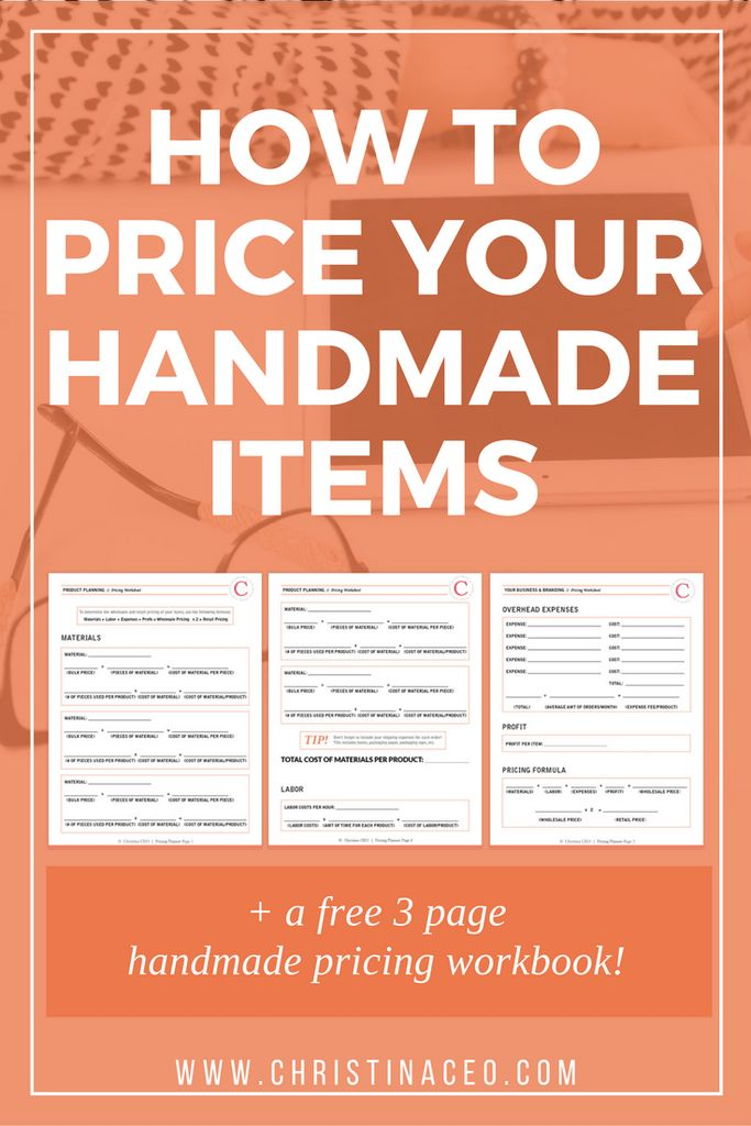 How to Price Your Handmade Items