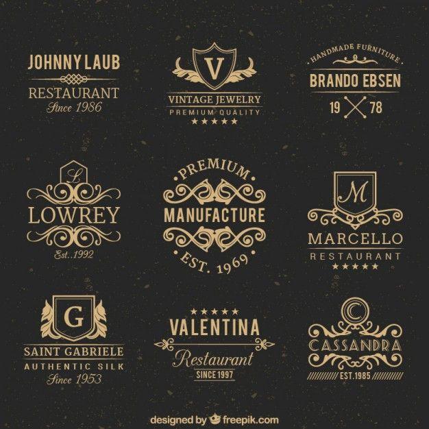 Emblemas do vintage Vetor grátis                                                                                                                                                     Mais