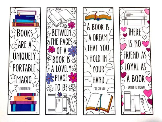 picture relating to Free Printable Bookmarks Pdf named E-book Quotation Bookmarks - PDF Zentangle Coloring Website page