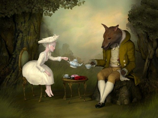 beautiful and seductive paintings   ... to see more of his art and to buy prints of his unusual paintings