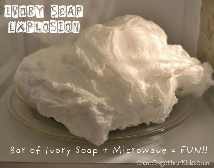 Come Together Kids: Ivory Soap Explosion....Emily would get a kick out of this!