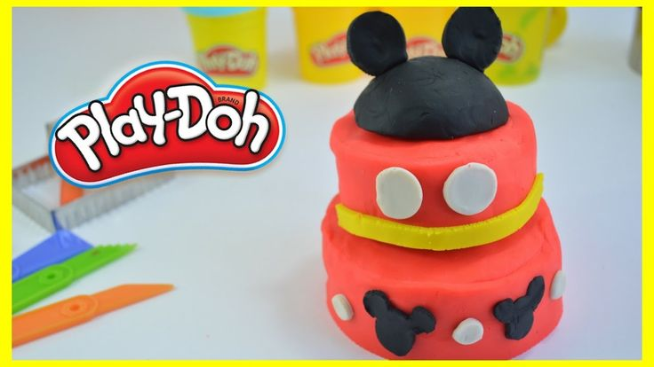 PLAY DOH TARTA MICKEY MOUSE / MICKEY MOUSE CAKE WITH PLAY DOH - La Casa del Juguete - YouTube