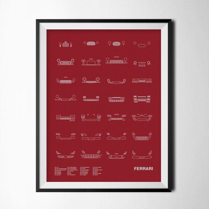 Autó Ikonok a falra - Dekoráció nem csak nőknek,  #dekoráció #design #díszítés #férfi #ikon #iroda #kép #kickstarter #lakás #ötlet #poszter, http://www.otthon24.hu/auto-ikonok-a-falra-dekoracio-nem-csak-noknek/  Olvasd el http://www.otthon24.hu/auto-ikonok-a-falra-dekoracio-nem-csak-noknek/