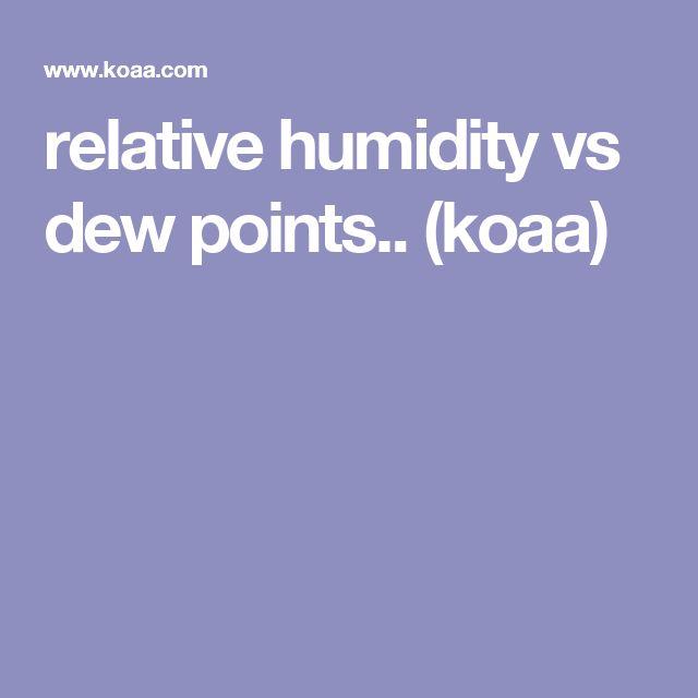 relative humidity vs dew points..  (koaa)