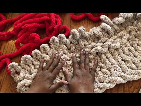 hand knitting chenille