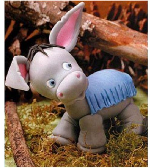 Fabulous donkey from polymer clay