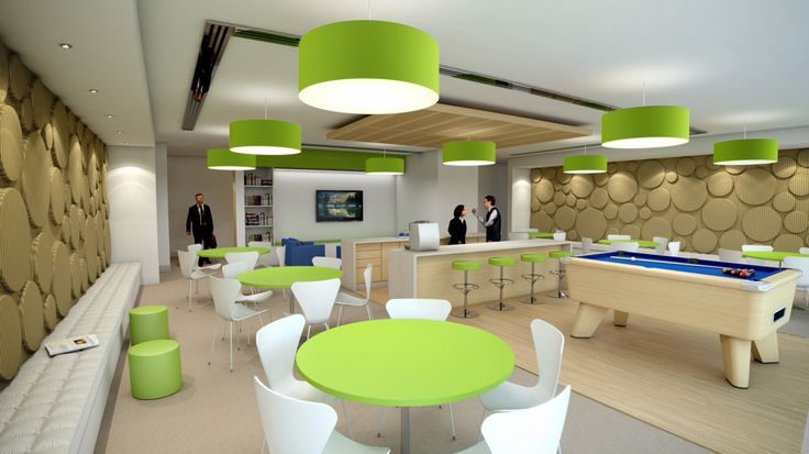 Office Breakout Space   commercial concept
