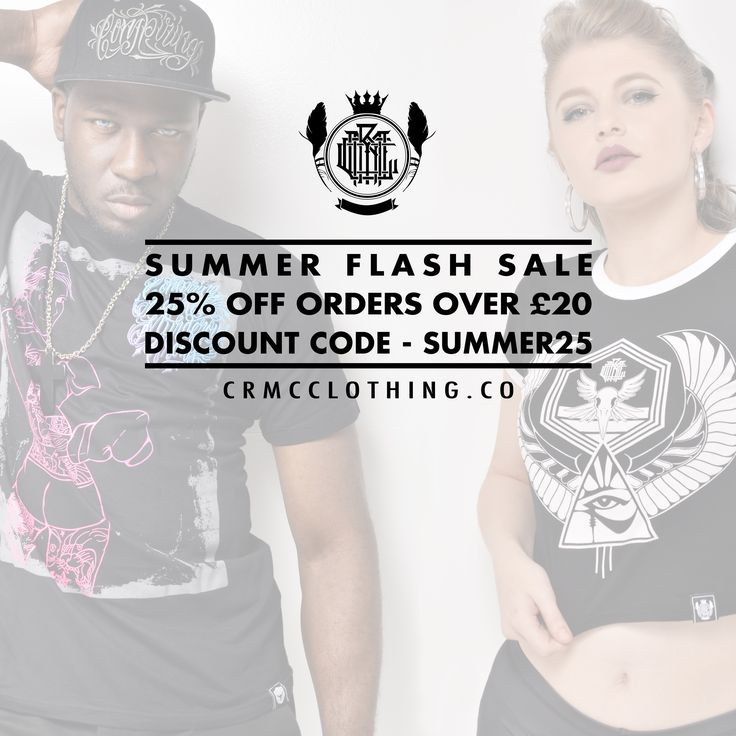 ☀️ CRMC FLASH SALE ☀️ 🖤 25% OFF all orders £20 or more! 🖤 👉 Use discount code - SUMMER25 - at the checkout 👈 Shop on at www.crmcclothing.co | WE SHIP WORLDWIDE #alt #altwear #altfashion #altstyle #alternative #alternativefashion #alternativestyle #fashion #fashionstatement #fashiongram #fashionista #lastchance #cheapdeals #flashsale #fashionoftheday #dailyfashion #summerfashion #summerdeals #deals #summerdeals #streetwear #streetwearclothing #alternativeguy #alternativeboy…