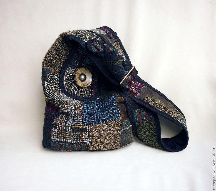 """Купить Лоскутная сумка """"Большая медведица"""" - комбинированный, в клеточку, лоскутная сумка, котомка-люкс"""