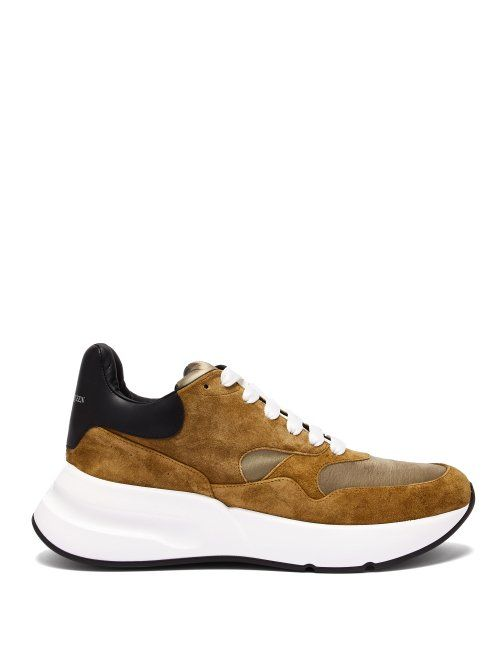 03f48799a660 ALEXANDER MCQUEEN ALEXANDER MCQUEEN - RUNNER RAISED SOLE LOW TOP LEATHER  TRAINERS - MENS - BLACK BROWN.  alexandermcqueen  shoes