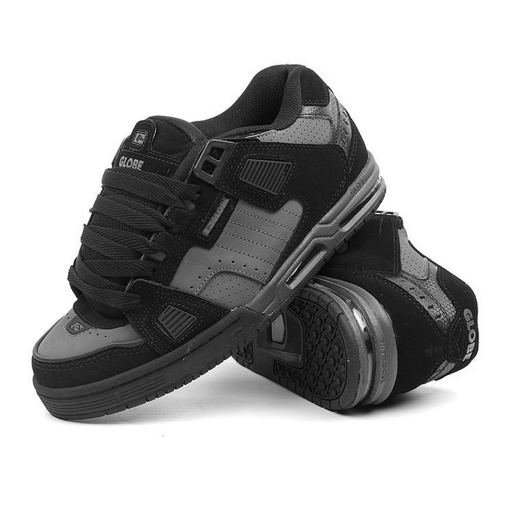 GLOBE Sabre black gunmetal grey grosses chaussures de skateboard