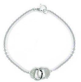 Bling Jewelry Secret Shades 925 Sterling Silver Cz Handcuff Bracelet.