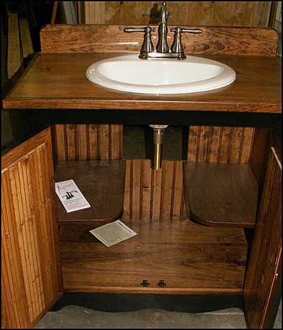 Country Bathroom Vanities  I Like These Shelves Inside