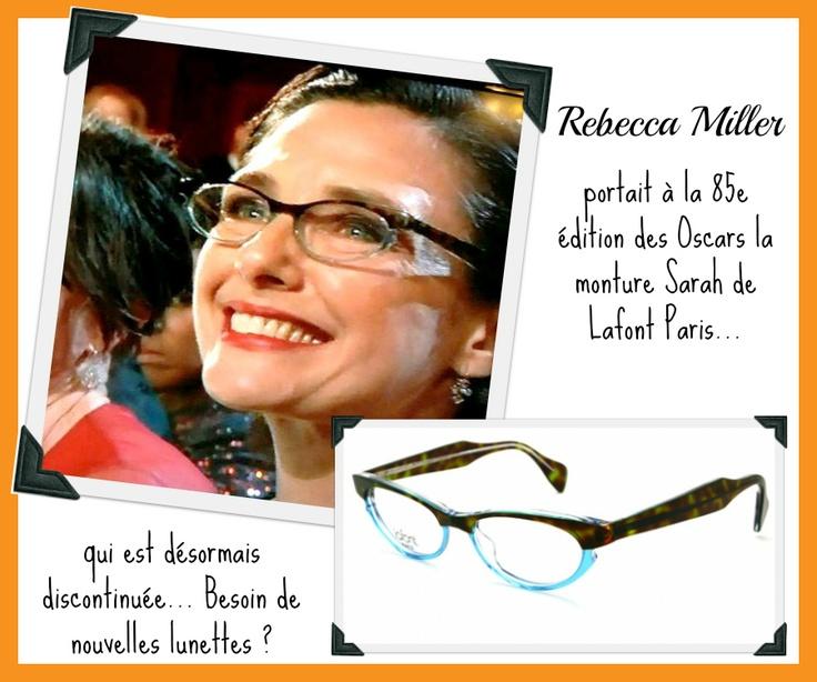 Rebecca Miller à la 85e édition des Oscars et sa monture Lafont!