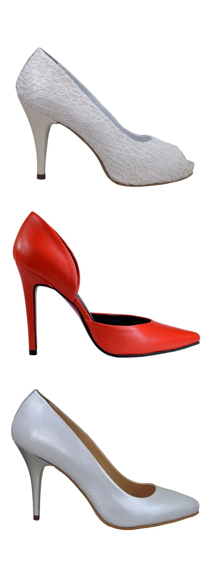 Pantofi de mireasă, eleganți, foarte comozi, din piele naturală Mărimi 32-42, toate inălțimile de toc. Prețuri de producător, transport gratuit.
