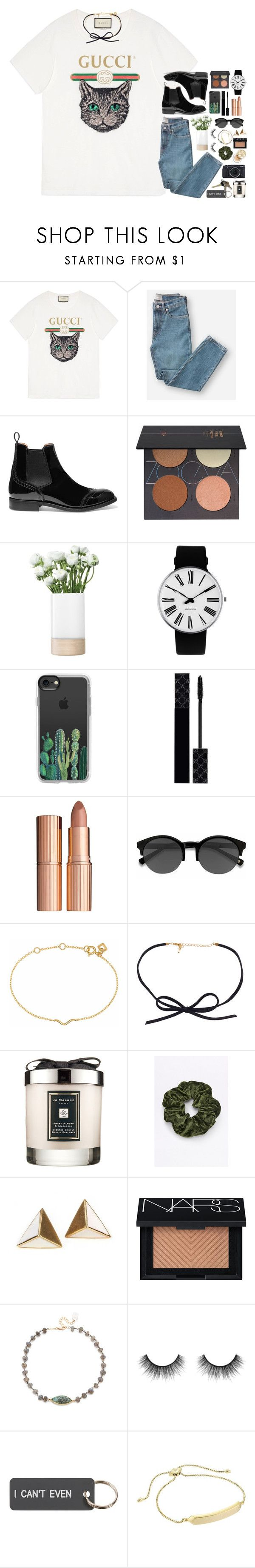 """""""now you're just somebody that I used to know"""" by sdyerrtx ❤ liked on Polyvore featuring Gucci, Everlane, Church's, ZOEVA, LSA International, Rosendahl, Casetify, Charlotte Tilbury, EyeBuyDirect.com and Maya Magal"""