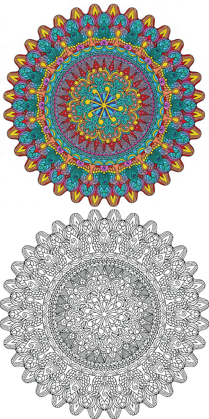 Dancing Dragon - free printable mandala coloring page from mondaymandala.com