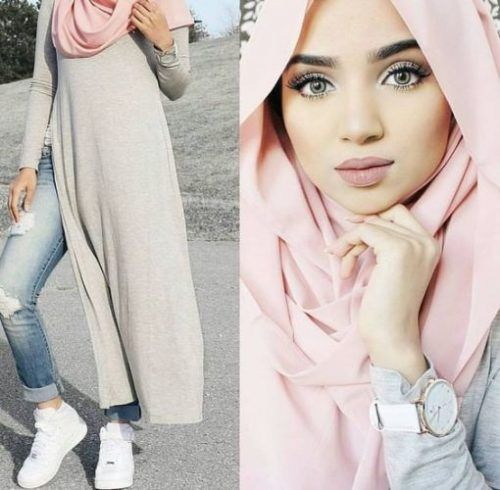 blush pink hijab- sporty hijab- How to wear cute hijab in honeymoon http://www.justtrendygirls.com/how-to-wear-cute-hijab-in-honeymoon/